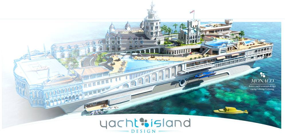 british firm yacht island design creates floating cities yacht island design releases tropical island paradise